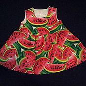 """Работы для детей, ручной работы. Ярмарка Мастеров - ручная работа Платье для девочки """"Арбуз"""". Handmade."""
