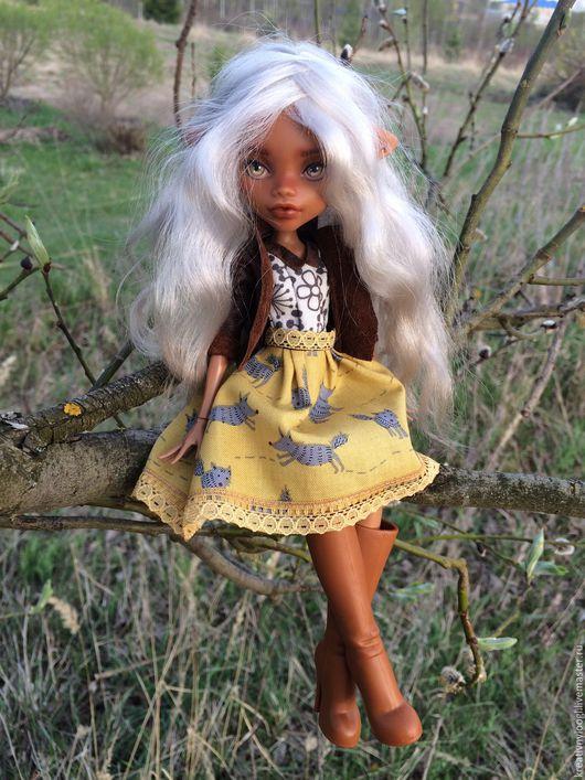 Коллекционные куклы ручной работы. Ярмарка Мастеров - ручная работа. Купить OOAK Monster High. Handmade. Желтый, ooak, пастель