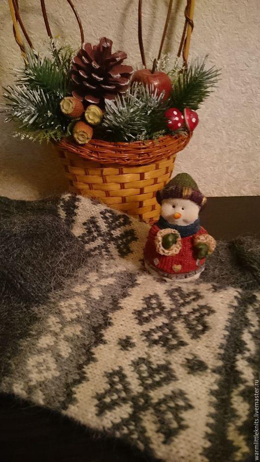 Носки, Чулки ручной работы. Ярмарка Мастеров - ручная работа. Купить Носки вязаные Зимняя сказка серо-голубые. Handmade.