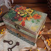 """Для дома и интерьера ручной работы. Ярмарка Мастеров - ручная работа Шкатулка """"Vintage flowers"""". Handmade."""