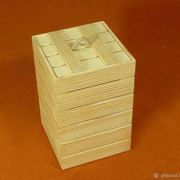 Сувениры и подарки ручной работы. Ярмарка Мастеров - ручная работа Короб деревянный для подарка. Handmade.