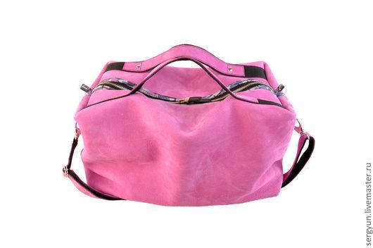 Женские сумки ручной работы. Ярмарка Мастеров - ручная работа. Купить Сумка Unisex Pink. Handmade. Яркая сумка
