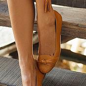 Обувь ручной работы. Ярмарка Мастеров - ручная работа Panama. Кожаные балетки в стиле ретро.. Handmade.
