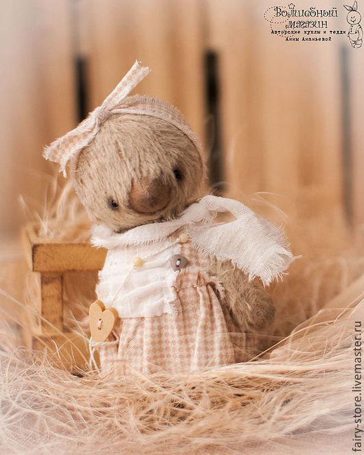 Мишки Тедди ручной работы. Ярмарка Мастеров - ручная работа. Купить Клавдия. Handmade. Бежевый, тедди, свобода, опилки