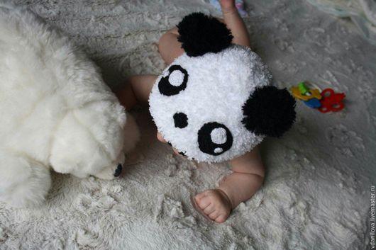 Шапки и шарфы ручной работы. Ярмарка Мастеров - ручная работа. Купить Шапка Панда для фотосессии. Handmade. Пинетки, шапка детская