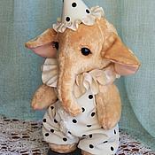 Куклы и игрушки ручной работы. Ярмарка Мастеров - ручная работа Слоник тедди Пьеро. Handmade.