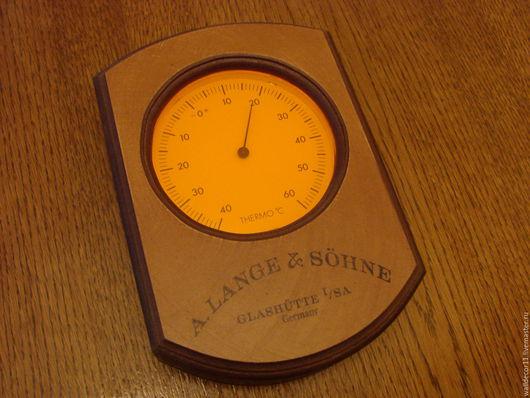 Прихожая ручной работы. Ярмарка Мастеров - ручная работа. Купить Термометр. Handmade. Коричневый, мдф