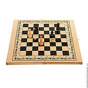 Активный отдых и развлечения handmade. Livemaster - original item chess-checkers-backgammon 3 in 1 gift smna 63 63 cm.. Handmade.