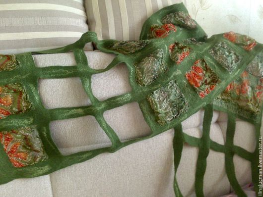 Шарфы и шарфики ручной работы. Ярмарка Мастеров - ручная работа. Купить Шарф сетка. Handmade. Шелковый шарф, подарок женщине