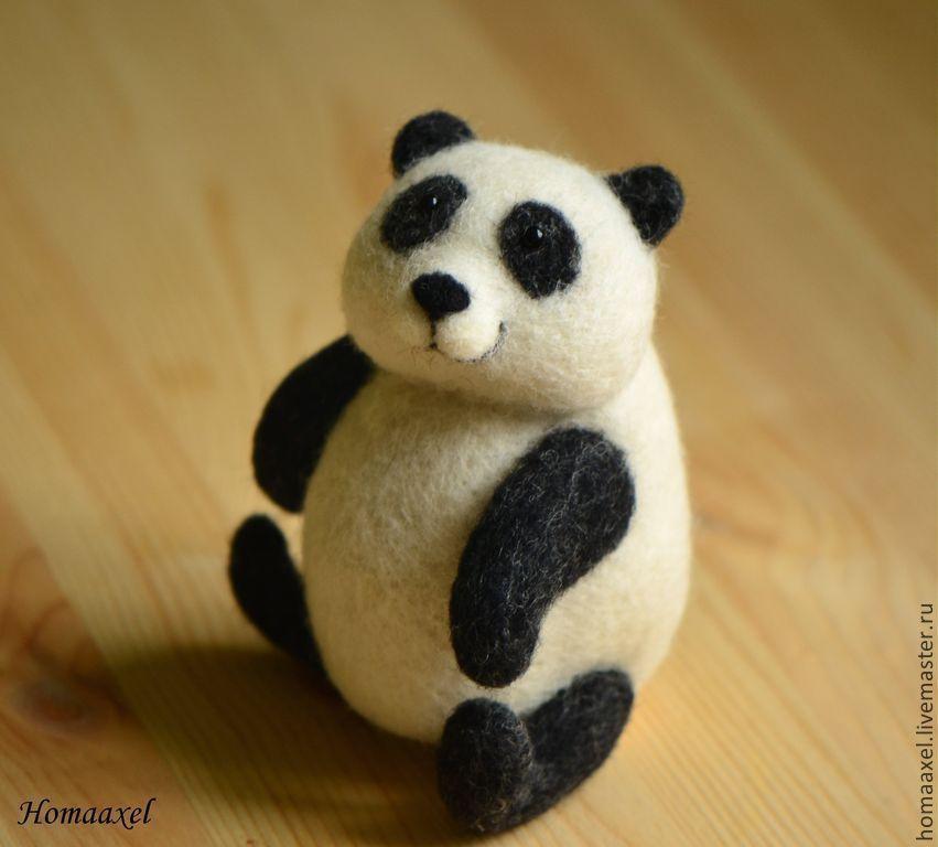 Felt Panda toy, Felted Toy, Heidelberg,  Фото №1
