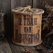 """Для дома и интерьера ручной работы. Ярмарка Мастеров - ручная работа """"Традиции Бабингтон"""" Короб для чая /массив сосны/. Handmade."""