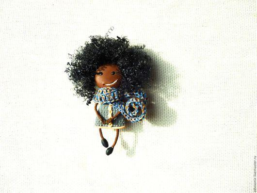 брошь - девочка `Латиша темнокожая девочка`