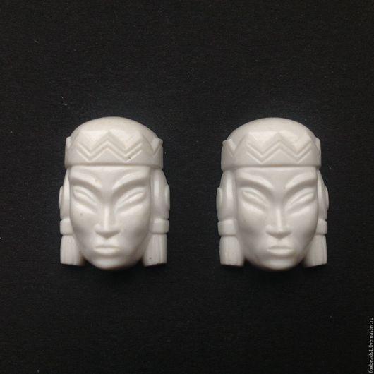 Для украшений ручной работы. Ярмарка Мастеров - ручная работа. Купить Белые маски. 21х15 мм Черные маски и зеленые маски. Handmade.