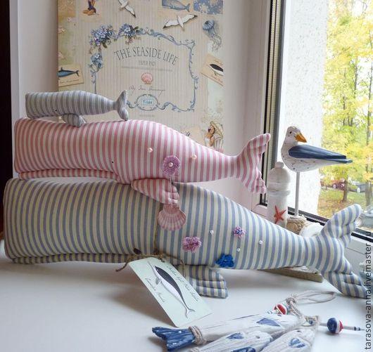 Куклы Тильды ручной работы. Ярмарка Мастеров - ручная работа. Купить Киты 2. Handmade. Бледно-розовый, море