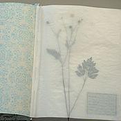 Канцелярские товары handmade. Livemaster - original item Album for a herbarium Frosty morning in the garden (A4, 40 plants). Handmade.