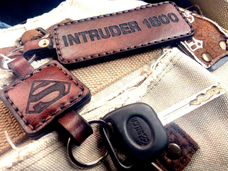 """Брелок из кожи """"Suzuki Intruder"""""""
