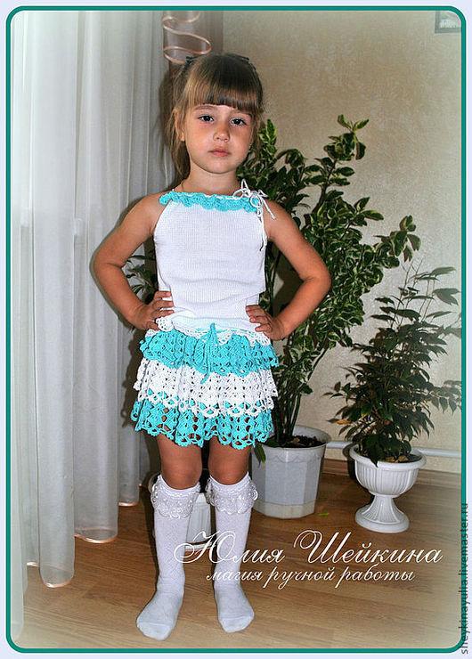 """Одежда для девочек, ручной работы. Ярмарка Мастеров - ручная работа. Купить Комплект для девочки, """"Нежные оборочки""""-костюм.. Handmade."""