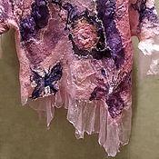 """Блузки ручной работы. Ярмарка Мастеров - ручная работа Блузка шёлковая нуно-войлок """"Нимфалиды"""". Handmade."""