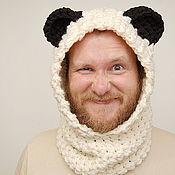 Аксессуары ручной работы. Ярмарка Мастеров - ручная работа капюшон шарф панда. Handmade.