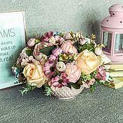 Сладкие букеты ручной работы. Ярмарка Мастеров - ручная работа Интерьерная композиция «Красотка»,розовый букет,букет с пионами. Handmade.