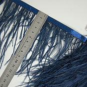 handmade. Livemaster - original item Trim of ostrich feathers 10-15 cm dark blue. Handmade.