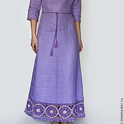 Одежда handmade. Livemaster - original item linen dress lavender