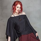 Одежда handmade. Livemaster - original item S_008 Blouse Quad, color is black. Handmade.