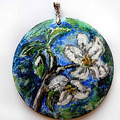 Украшения ручной работы. Ярмарка Мастеров - ручная работа Кулон цветы яблони. Handmade.