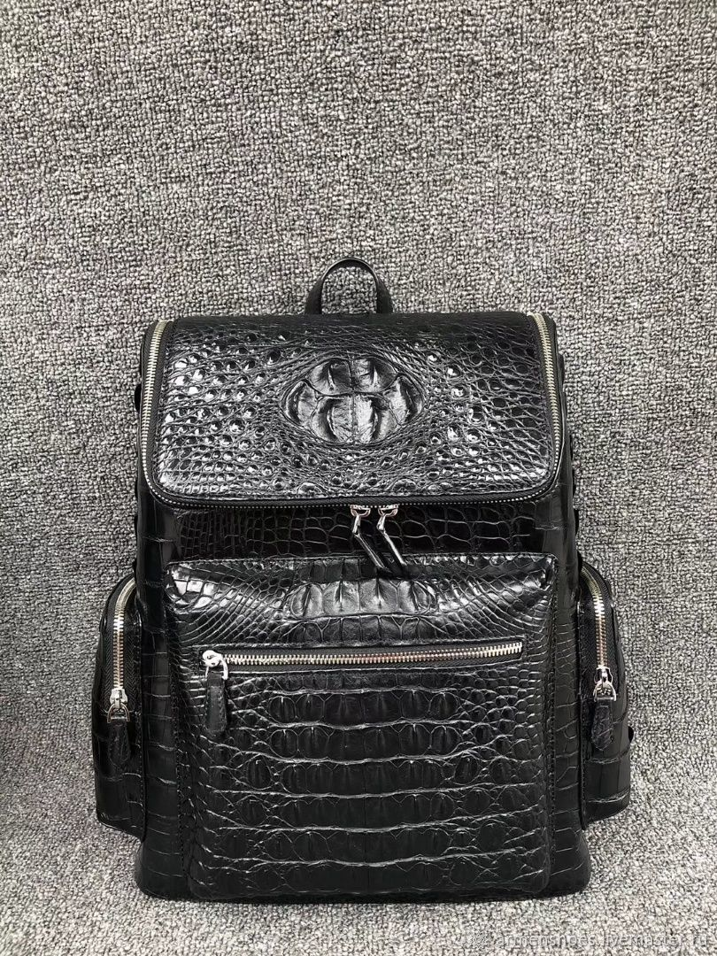Backpack made of embossed part of genuine crocodile leather, Backpacks, Tosno,  Фото №1