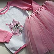 Работы для детей, ручной работы. Ярмарка Мастеров - ручная работа Свитшот +юбка. Handmade.