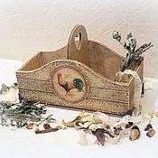 """Для дома и интерьера handmade. Livemaster - original item Короб для специй """"Винтажный петушок"""". Handmade."""