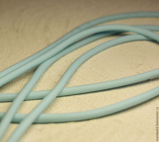 Для украшений ручной работы. Ярмарка Мастеров - ручная работа. Купить шнур светло-голубой/ 2,5 мм/ цена за 10 см (ост. 2 м). Handmade.