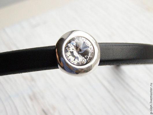 Для украшений ручной работы. Ярмарка Мастеров - ручная работа. Купить Бусина Swarovski для regaliz (регализ) silver crystal. Handmade.