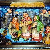 """Картины и панно ручной работы. Ярмарка Мастеров - ручная работа """"Святки"""". Handmade."""