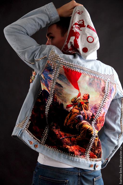 """Верхняя одежда ручной работы. Ярмарка Мастеров - ручная работа. Купить Мужская джинсовая куртка """"Родина"""". Handmade. Мужской denim"""