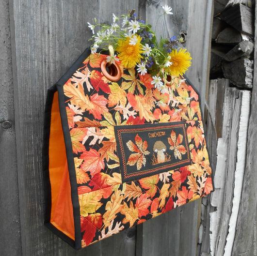 """Кухня ручной работы. Ярмарка Мастеров - ручная работа. Купить Травница-органайзер  """"Лесная кладовая"""". Handmade. Оранжевый, для кухни, листья"""