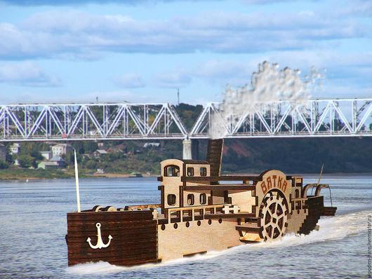 колесный пароход из фанеры