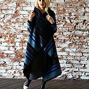Одежда ручной работы. Ярмарка Мастеров - ручная работа Пальто СOZY BLUE RAINBOW. Handmade.