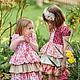 Одежда для девочек, ручной работы. Ярмарка Мастеров - ручная работа. Купить Платье для девочки красный бежевый розовый Хлопок рюшки. Handmade.