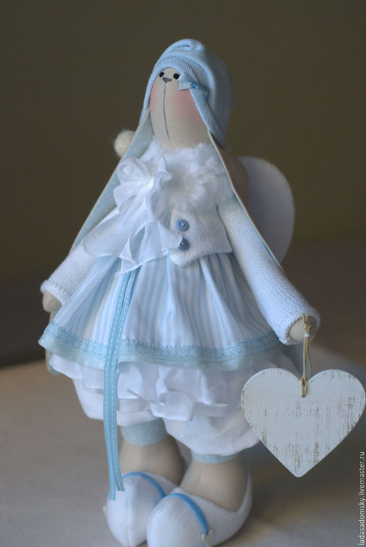 Игрушки животные, ручной работы. Ярмарка Мастеров - ручная работа. Купить Зайка ангелочек  - текстильная игрушка 37 см. Handmade.