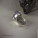 Кольца ручной работы. Заказать Серебряное кольцо с друзой аметиста Лепестки. ТиллиДи (Дарья). Ярмарка Мастеров. Аметист, кольцо с камнем