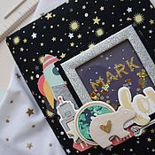 Канцелярские товары ручной работы. Ярмарка Мастеров - ручная работа Бебибук звездный для малыша. Handmade.