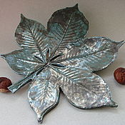 Для дома и интерьера ручной работы. Ярмарка Мастеров - ручная работа Лист каштана керамический. Handmade.