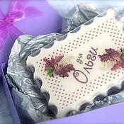 Косметика ручной работы. Ярмарка Мастеров - ручная работа Мыло именное Цветочное в коробочке, подарок женщине, подарок девушке. Handmade.
