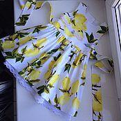 Работы для детей, ручной работы. Ярмарка Мастеров - ручная работа Летнее платье для девочки Лимоны. Handmade.