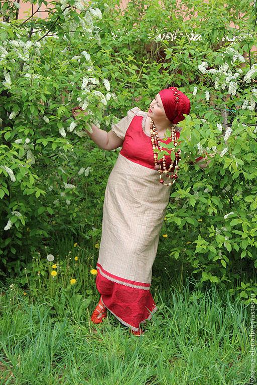"""Платья ручной работы. Ярмарка Мастеров - ручная работа. Купить Платье """"Лето красное"""". Handmade. Русский стиль, большой размер"""