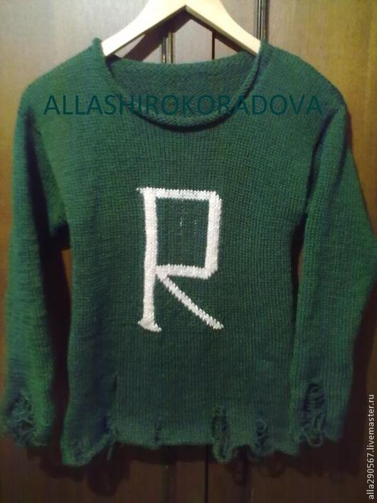 Кофты и свитера ручной работы. Ярмарка Мастеров - ручная работа. Купить Свитер в стиле Хиппи. Handmade. Тёмно-зелёный