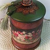 Для дома и интерьера ручной работы. Ярмарка Мастеров - ручная работа Деревянная банка для хранения мелочей. Handmade.