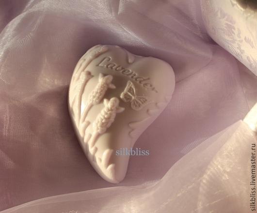 """Мыло ручной работы. Ярмарка Мастеров - ручная работа. Купить нежное мыло """"Лавандовое Сердце"""". Handmade. Нежное мыло"""