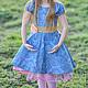 Одежда для девочек, ручной работы. Заказать Платье для девочки синее Хлопок. Camilla Reynolds. Ярмарка Мастеров. Платье для девочки, юбочка